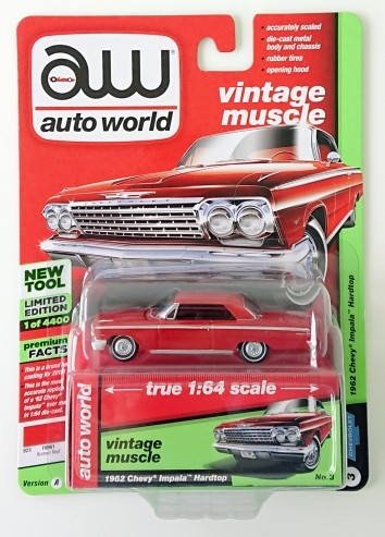 gallery/62 impala roman red aw i låda 1a 2018 vintage muscle premium r3 nr 3 version a svart inredning