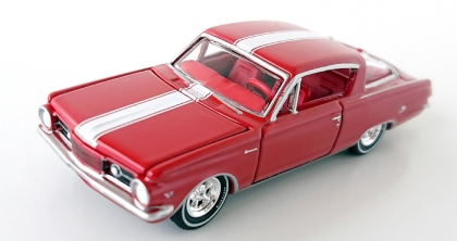 gallery/64 barracuda gloss red aw bruks 1a 2019 premium r3 vintage muscle nr 6 version b vit stripe röd inredning