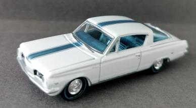 gallery/64 barracuda gloss white aw bruks 1a 2019 premium r3 vintage muscle nr 6 version a frostblå stripe aquablå poly inredning